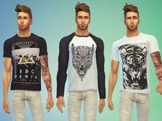 Fashion for males by Odey92 at The Sims Resource via Sims 4 Updates
