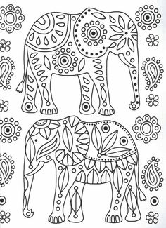 Elephant Mandala Coloring Pages - Animal Coloring Pages . - Elephant Mandala Coloring Pages – Animal Coloring Pages draw drawing - Mandala Coloring Pages, Colouring Pages, Coloring Books, Hand Embroidery Patterns, Embroidery Art, Embroidery Stitches, Elephant Colour, Elephant Art, Mandala Elephant