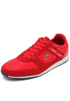 2805b308eed Tênis Lacoste Menerva Sport 318 1 Cam Vermelho