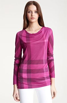 Burberry Brit Check Print Tee available at Nordstrom $197.49