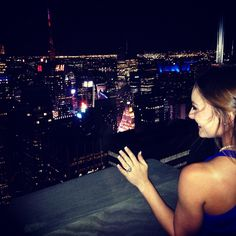 Top of the rock in New York City, where I got engaged.