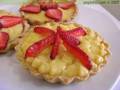 i-Recetas: Tartitas de fresa y crema de chocolate blanco