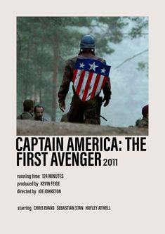 CAPTAIN AMERICA: THE FIRST AVENGER minimalist movie poster