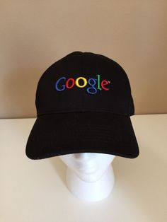 290fde083ab GOOGLE employee 100% cotton black adjustable Baseball Cap Hat Halloween  OSFM Hats For Sale