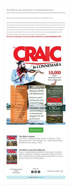 The CRAIC for July with Summer in Connemara extension! Advertising Space, Connemara, How To Introduce Yourself, Extensions, Ads, Summer, Life, Summer Time, Hair Extensions