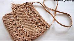 Özellikle evde yapılabilen, kullanışlı ve ekonomik çanta modelleri favorim diyebilirim. Bu hoş seçenekler arasında bulduğum kağıt ipten çanta yapımını da sizlere aktarmak istedim. Crochet Bikini, Crochet Top, Crochet Bags, Jute Bags, Crochet Woman, Handmade Bags, Crochet Projects, Projects To Try, Swimwear