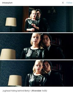 Hiding behind Betty was the most Jughead thing Jughead could do. XD Riverdale