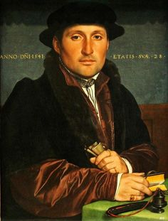 Portrait of a young merchant. 1541. Hans Holbien the younger. German.  1479-1543.       http://hadrian6.tumblr.com