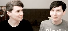 Phil getting annoyed by Dan ^_^ (gif)