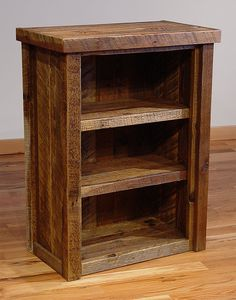 hunting for rustic wood bookcase ideas. (again.)