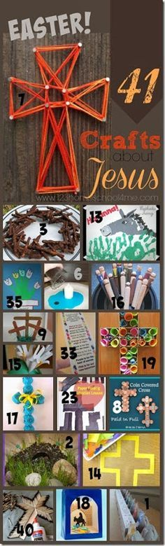 41 Easter Crafts about Jesus! Perfect for your private classroom or Sunday School!