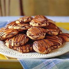 Peanut Butter-Toffee Turtle Cookies Recipe | MyRecipes.com