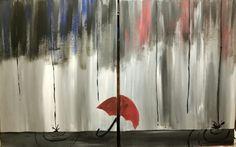 "Dual canvas ""Rainy Day"""
