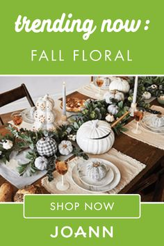 Give your home an autumn accent with some trendy Fall Floral Decor from JOANN! You'll definitely want to check out the Blooming Autumn Succulent Arrangement in Cream Pumpkin, the various types of Harvest Cotton Fabric, and many other fun ideas. Fall Festival Decorations, Fall Decorations, Thanksgiving Decorations, Diy Arts And Crafts, Fall Crafts, Fall Room Decor, Fall Designs, Wood Bead Garland, Halloween Table