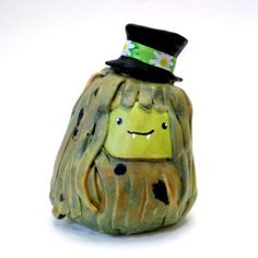 Cute Swamp Thing in a Top Hat Sculpture  Clay by RedandMain, $38.00