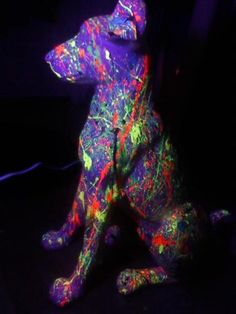 This looks like a colorful version of my dog, Diego!  modern art and sculpture - Google Search