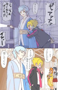 Mitsuki, Bolt, Sarada, and Chocho