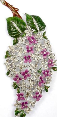 Trifari Lilac Pin