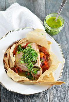 Tuna En Papillote with Italian Salsa Verde - Lexi Bites