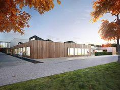 Sint-Niklaas krijgt nieuw schoolgebouw en internaat / ABSCIS ARCHITECTEN en INGENIUM