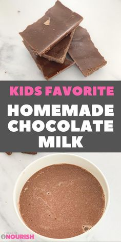 10 min to make – healthy, delicious, and homemade – a natural alternative and an upgrade on store-bought options. Best for baby and toddler breakfast or snack. #snack #toddler #baby #chocolatemilk #homemade Toddler Smoothie Recipes, Healthy Smoothies For Kids, Toddler Smoothies, Healthy Kids, Chocolate Yogurt, Healthy Chocolate, Homemade Chocolate, Chocolate Recipes, Oat Smoothie
