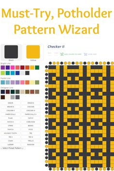 If you have a potholder loom lying around, then you'll LOVE Potholder Pattern Wizard—free weaving software from Harrisville Designs! #weaving #software #potholderpatterns #weavingpatterns