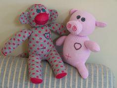 Sock Monkey and Glove Pig