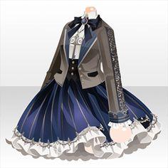 上半身/インナー クロックタワージャンパースカートブルー Manga Clothes, Drawing Anime Clothes, Dress Drawing, Model Outfits, Girl Outfits, Cute Outfits, Clothing Sketches, Anime Dress, Fantasy Dress