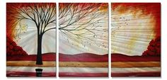 Windy Red River Metal Wall Art Hanging