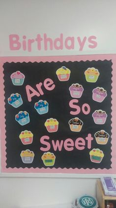 Cupcake birthday board