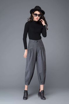 Newest Collection Of Bottoms Warm Pants, Loose Pants, Cropped Pants, Grey Trousers, Grey Pants, Women's Pants, Jogger Pants, Fall Outfits, Cute Outfits