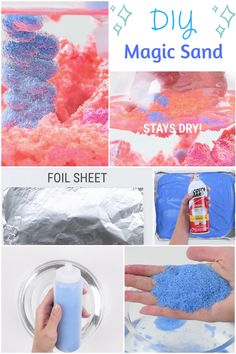 Sand that never gets wet! Such a fun sensory activity for the kids. #babyfirst…
