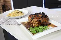Moroccan Roast Chicken & Couscous - Chef Rodney Bowers puts a fresh spin on the traditional meal Healthy Meats, Healthy Recipes, Marilyn Denis Recipes, Chicken Couscous, Moroccan Chicken, Roast Chicken Recipes, Tandoori Chicken, Dinner Recipes, Good Food