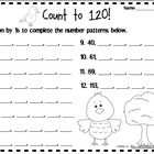 Counting and understanding number patterns to 120 math centers, activities and printables! Common Core Aligned: K.CC.A.1, K.CC.A.2, 1.NBT.A.1 (counting and ordering number to 100 and 120.)