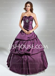 Quinceanera Dresses - $168.99 - Ball-Gown Sweetheart Floor-Length Taffeta Quinceanera Dress With Ruffle Beading (021020608) http://jjshouse.com/Ball-Gown-Sweetheart-Floor-Length-Taffeta-Quinceanera-Dress-With-Ruffle-Beading-021020608-g20608