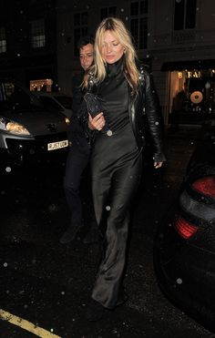 Kate Moss in the streets of London. / 10 Best Dressed: Week of January 19, 2015 – Vogue