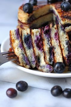 The Blueberry Pancakes Of Your Dreams - Thick, fluffy, and just bursting with fresh blueberries! Friends, these are the blueberry pancakes of your dreams