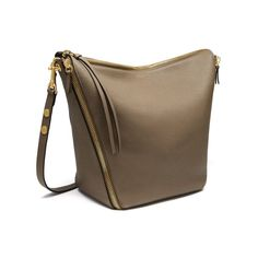 Shop the Camden bag in Clay Small Classic Grain leather, new for Autumn Winter 2016, the Camden is a slouchy hobo style shoulder bag with statement zips inspired by British punk rock culture. The zips travel down the sides and to the base of the bag where they fix together.