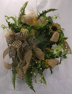 Animal Burlap Wreath