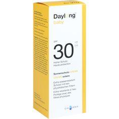 DAYLONG Baby SPF 30 Creme:   Packungsinhalt: 50 ml Creme PZN: 03162950 Hersteller: Galderma Laboratorium GmbH Preis: 9,90 EUR inkl. 19 %…