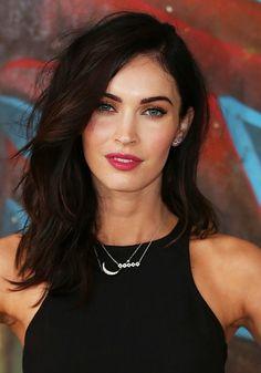 The best brown hair colours: Megan Fox: Very dark brown; warm chestnut tones. #brownhair #brunettes #meganFox