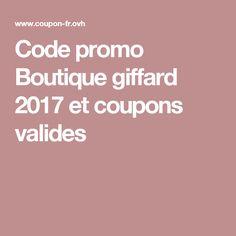 Code promo Boutique giffard  2017 et coupons valides