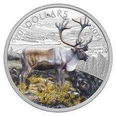 Royal Canadian Mint $20 2014 Fine Silver Coin - The Caribou $99.95
