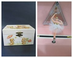 Your place to buy and sell all things handmade Music Box Ballerina, Ballerina Jewelry Box, Vintage Ballerina, Little Ballerina, Kids Jewelry Box, Little Girl Jewelry, Girls Jewelry, Tiny Dancer, Vintage Children