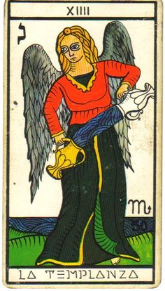 La Templanza (temperance tarot card XIV)