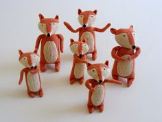 New hand crocheted creatures just unpacked - 21 November 2014 Fantastic Mr Fox, Hand Crochet, Contemporary Design, Creatures, Christmas Ornaments, Foxes, Holiday Decor, South Africa, November