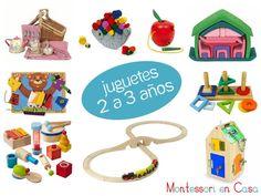 Juguetes por edad: 2 a 3 años - Toys by age: 2 to 3