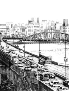22-Kiyohiko-Azuma-Architectural-Urban-Sketches-and-Cityscape-Drawings-www-designstack-co