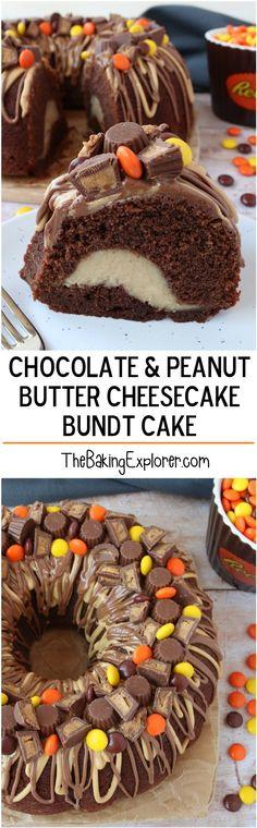 Chocolate & Peanut Butter Cheesecake Bundt Cake