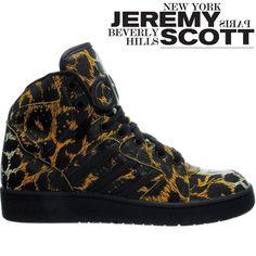Adidas JS Instinct Hi Leopard High-Top-Sneaker Leather Jeremy Scott-Edition  NEW a235dcd0a13